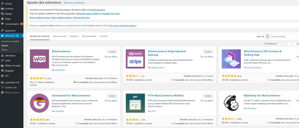 Créer un site ecommerce avec WordPress