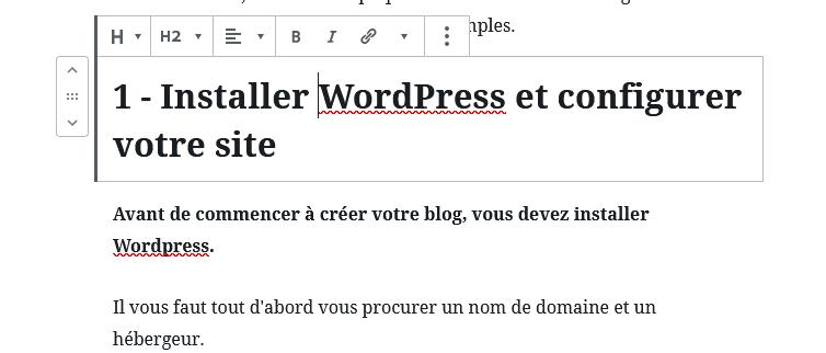 Ajouter un titre dans votre article WordPress