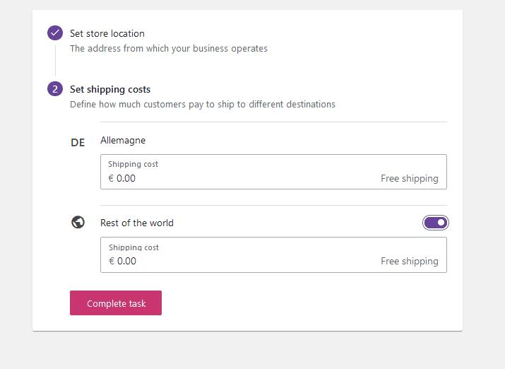 WooCommerce livraison