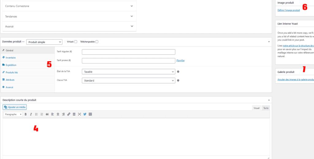 WooCommerce Ecommerce - interface produit