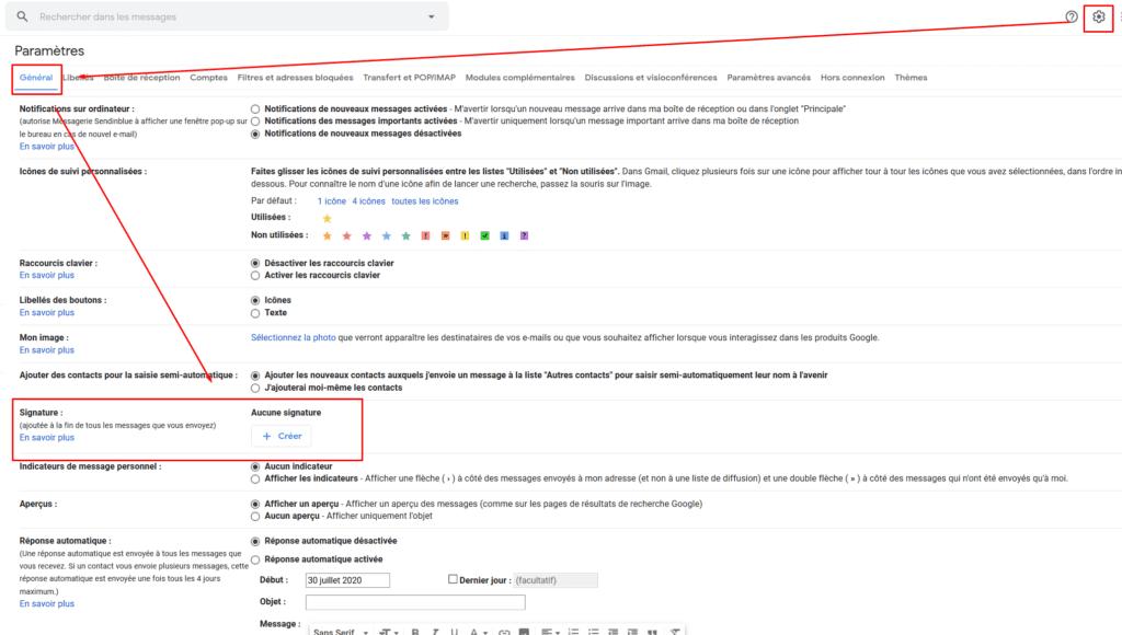 Signature email - gmail