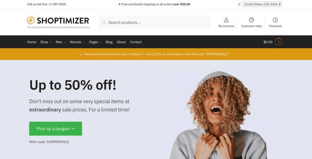 Thèmes WooCommerce - Shoptimizer