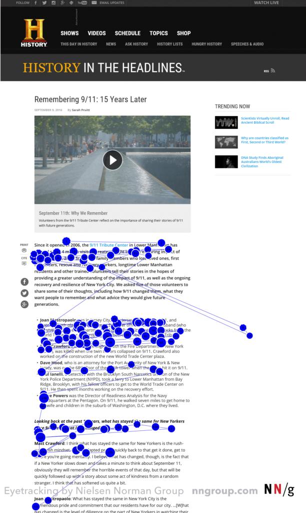 Neuromarketing - exemple suivi regard