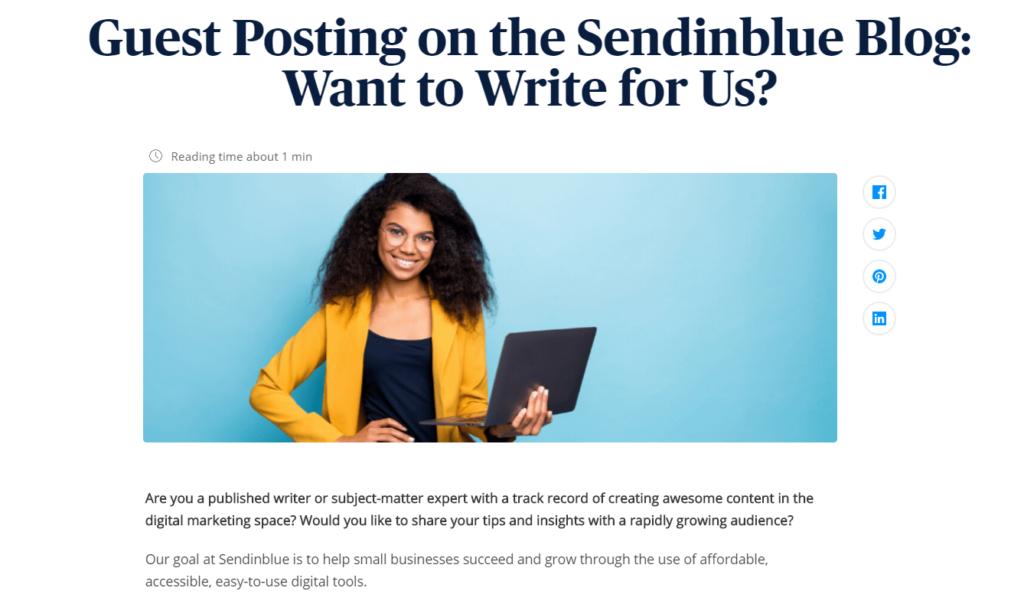 SEO - Guest blogging