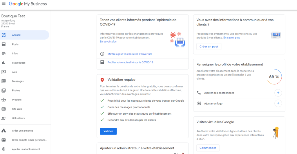 Référencement local - Google My Business Exemple 6