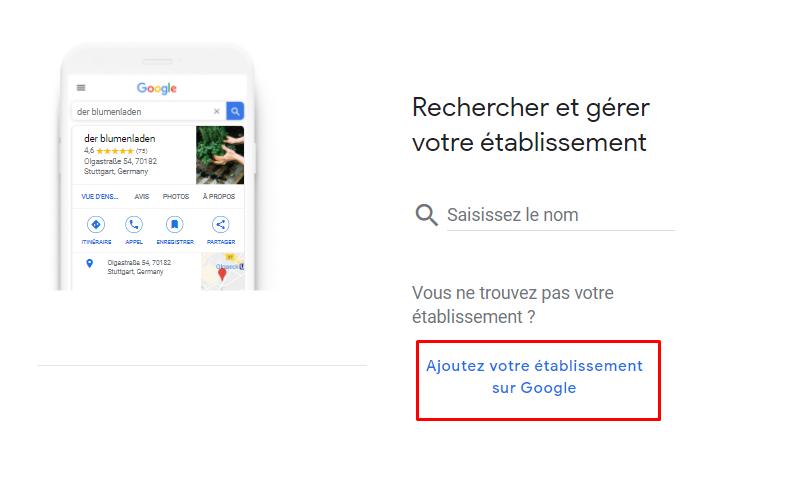 Référencement local - Google My Business Exemple 2