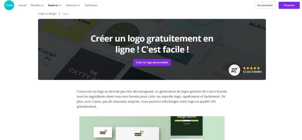 Design de logo gratuit - Canva