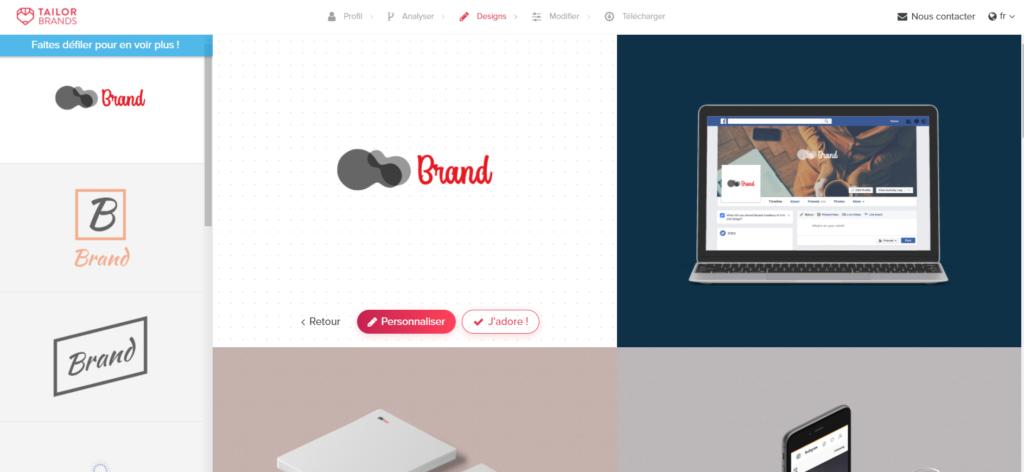 logiciel de création de logo gratuit - Tailor Brands