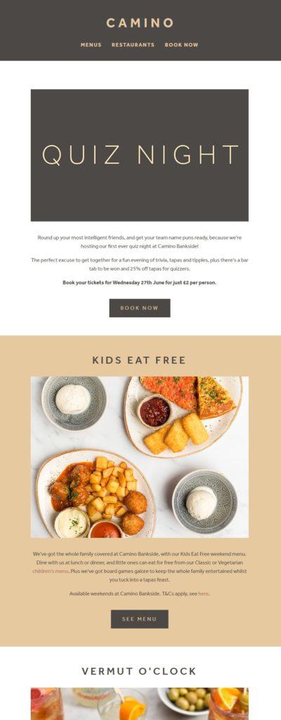 Newsletter Restaurant
