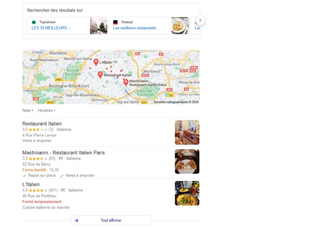 Marketing Restaurant - référencement local
