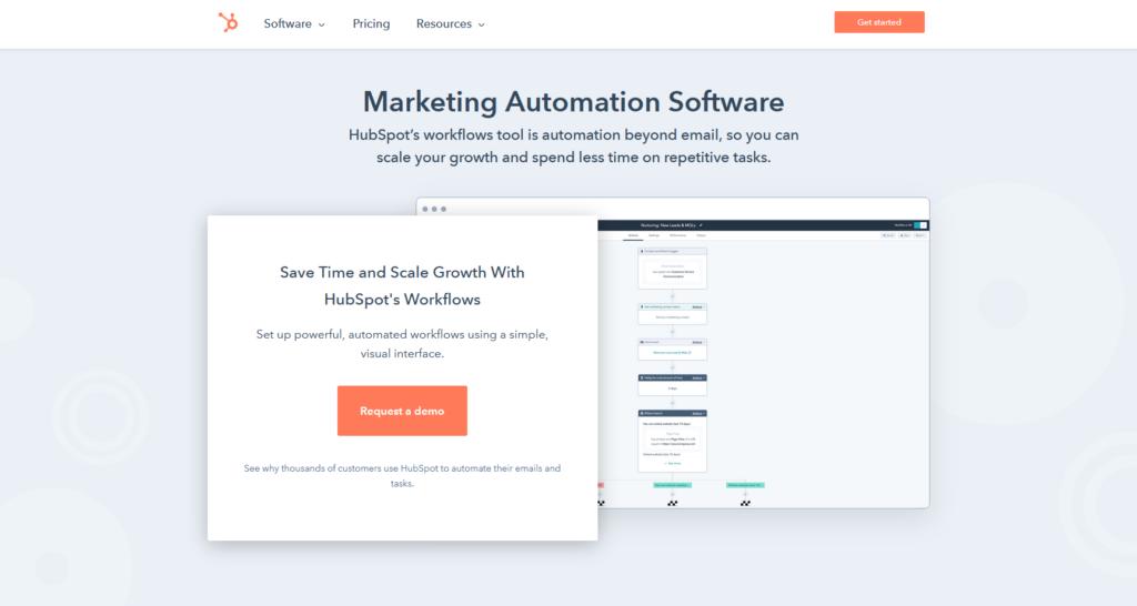 Logiciel marketing automation - Hubspot