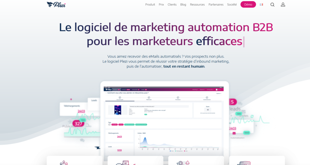 Logiciel marketing automation - Plezi