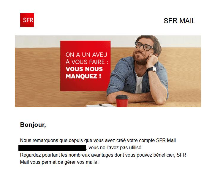 Email de relance - SFR