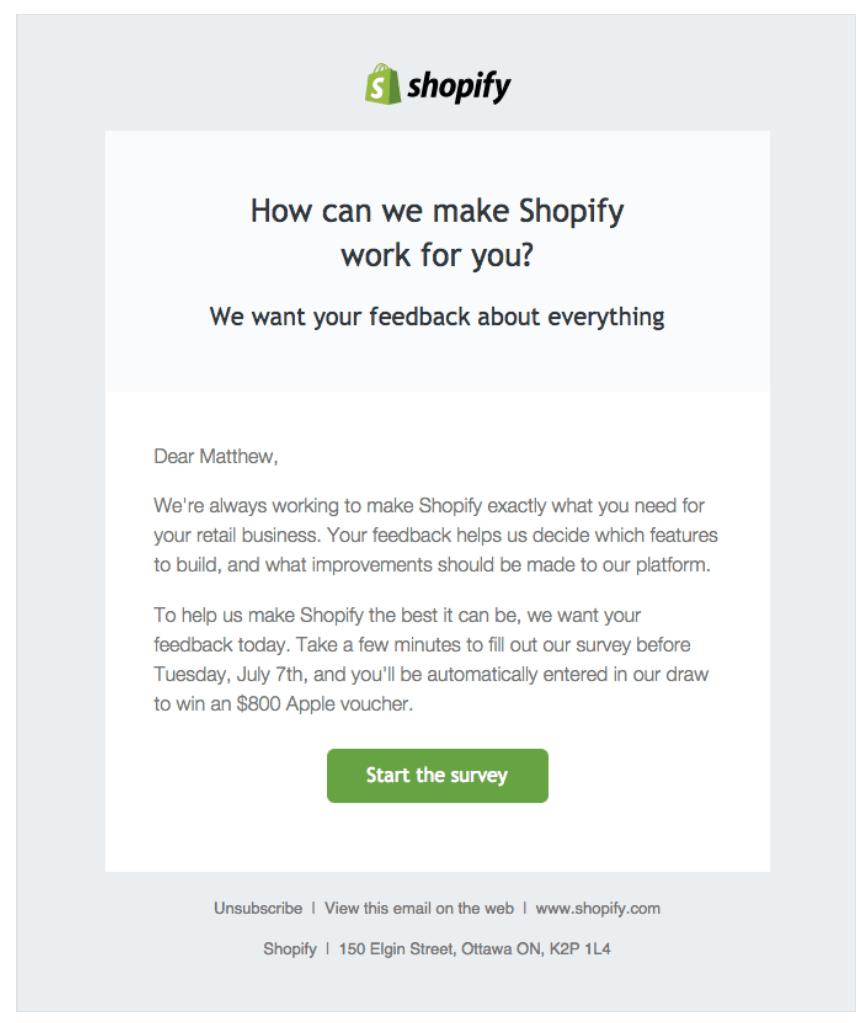 Email de relance - Shopify 2