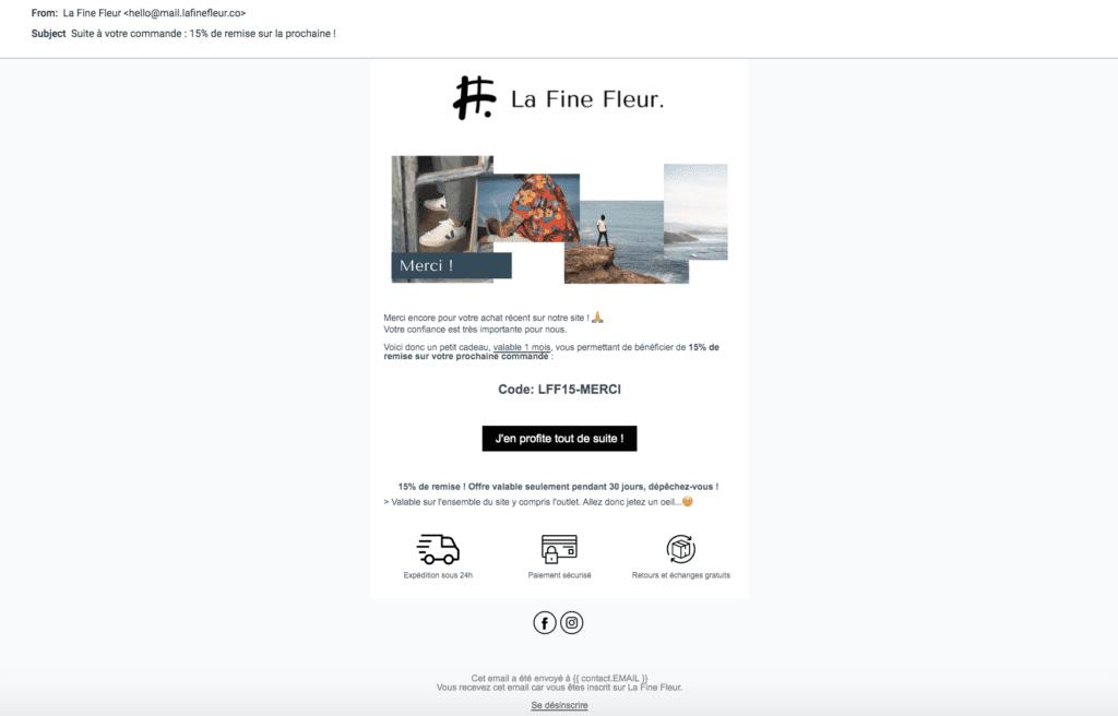 Étude de cas - marketing automation omnicanal Email 2