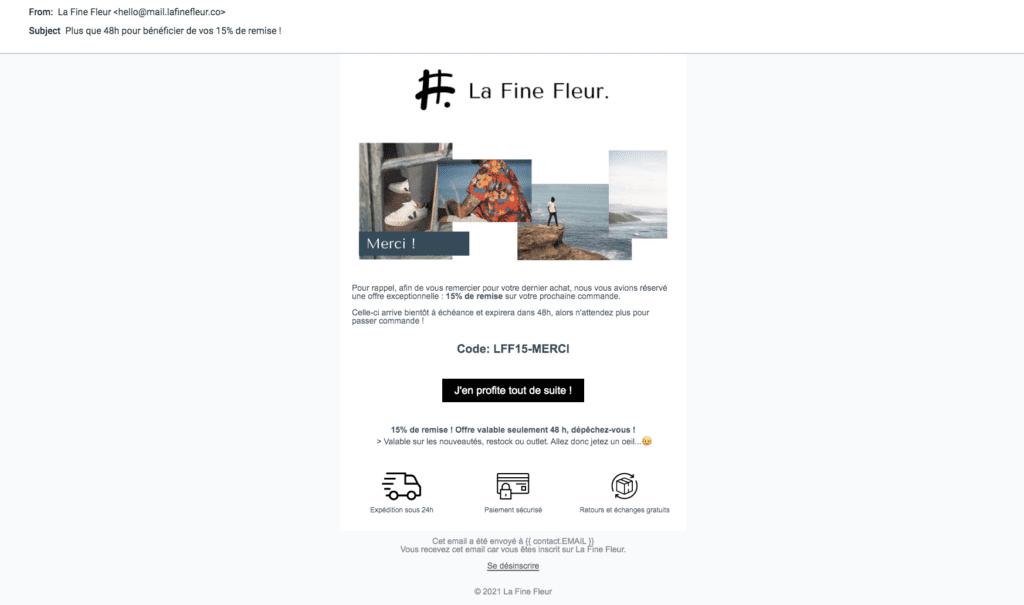 Étude de cas - marketing automation omnicanal Email 3