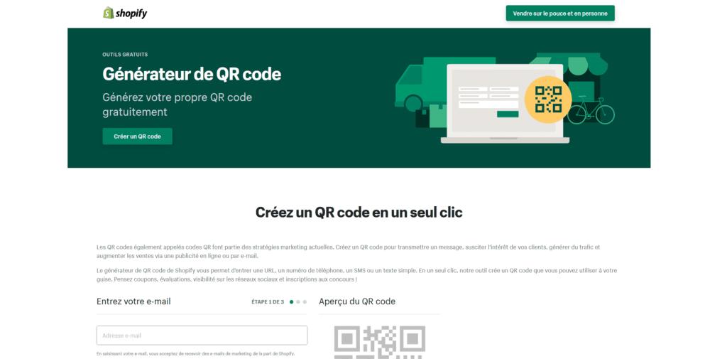 Shopify - créer un QR Code